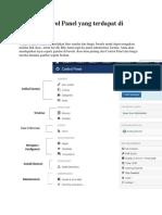 Fungsi Control Panel Yang Terdapat Di Joomla