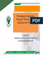 Pengambilan Spesimen Potensi Virologi