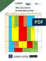SSC CGL Tier II Study Schedule PDF