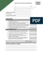 Rúbrica de Coevaluación para Alumnos HL