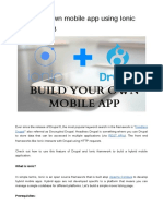 Build your own mobile app using Ionic and Drupal 8