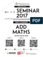 SPM Seminar 2017 Part 1 - Add Maths Notes