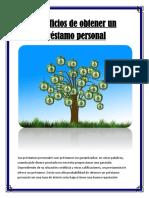 Beneficios de obtener un préstamo personal