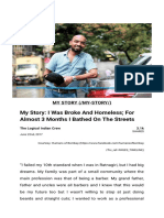 My Story_ I Was Broke and Homeless_ for Almost 3 Months I Bathed on the Streets