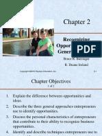 Entrepreneurship - Slides - Recognising Opportunities and Generating Ideas - Lesson 2