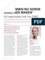 Vijf Organisaties Over Hun FMIS