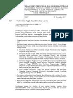Surat Pemberitahuan Unggah Proposal Penelitian Lanjutan