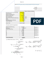 Critical Velocity Calculation