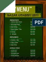 Menu Bazar