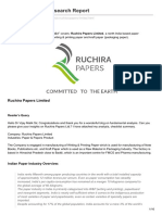 Ruchira Papers Research Report