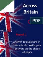 Across Britain Quiz