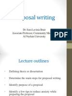 Lecture 2 Proposal Writing