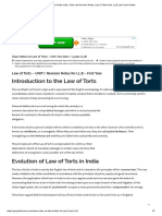 Law of Torts Class Notes India, Torts Law Revision Notes, Law of Torts India, LL