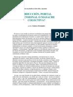 Gustavo Fernández Abduccion, Portal Dimensional o Masacre Colectiva