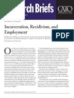 Incarceration, Recidivism, and Employment