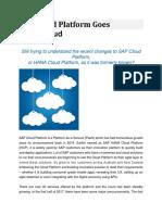 SAP Cloud Platform Goes Multi-Cloud