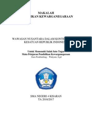 Contoh Wawasan Nusantara Doc Pdf Download Lengkap