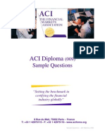 ACI Diploma Sample Questions