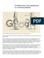 jan ingenhousz photosynthesis discovery article