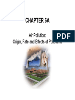 Chapter 6 - Air Pollution 1