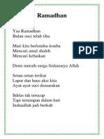 Puisi Kaka Ramadhan