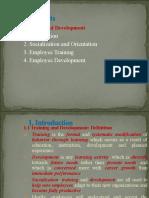 2.2.4 Training and Development