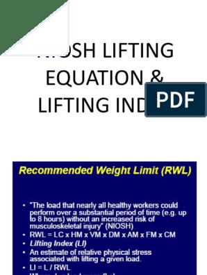 niosh-lifting-equation pptx
