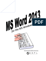 MS Word 2013 Complete Pgs 1-40 With Page Numbers Updated