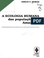 A Ecologia Humana Das Populações Da Amazônia