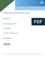 Indexes and Database Optimization