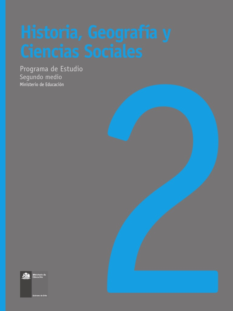 Calendario Escolar Granada 2020 19.Historia Geografia Y Ciencias Sociales Ii Medio Aprendizaje