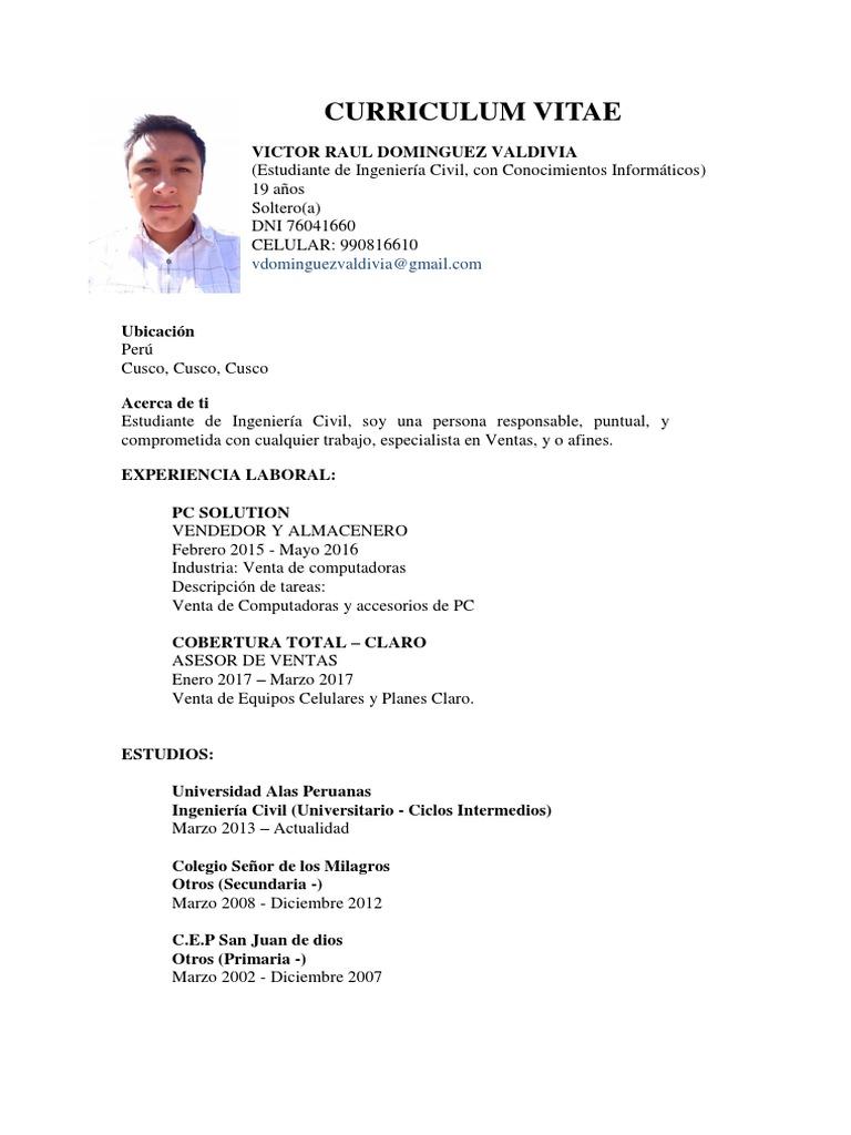 Curriculum Vitae Victor 2018