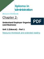 BA Chapter 2 Understand Employer Organisations Resource Workbook