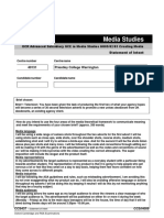 Statement of Intent Form