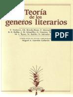 Garrido Gallardo, Teoría de los géneros literarios