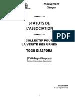 Statuts Cvu Togo Diaspora - 31aout2010