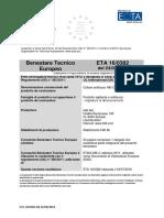 Agrement Caseta Antifoc CFS-RCC Italiana