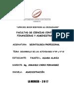 DEONTOLOGIA PROFESIONAL - DESARROLLO DE LAS ACTIVIDADES N°09 y N°10