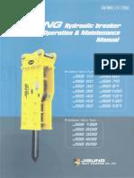Jisung Hydrahulic Breaker Operation & Maintenance Manual