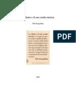 Petr Kropotkin Lo Stato e Il Suo Ruolo Storico