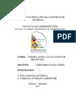 Diagnostico Para La Elaboracion de Un Proyecto de Inversion Pública en La Comunidad de Sotapa