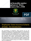 Medical Benefits Under ESI ACT