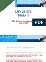 10- TITULO III - Preguntas Frecuentes de AFIP - Presentacion