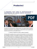 7 Preguntas Clave Sobre La Reestructuracion y Financiamiento de La Deuda Externa Venezolana