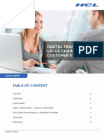Digital Transformation Value Chain - Enhancing Customer Experience White