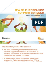EPIA_Overview Support Schemes - 25 08 2010