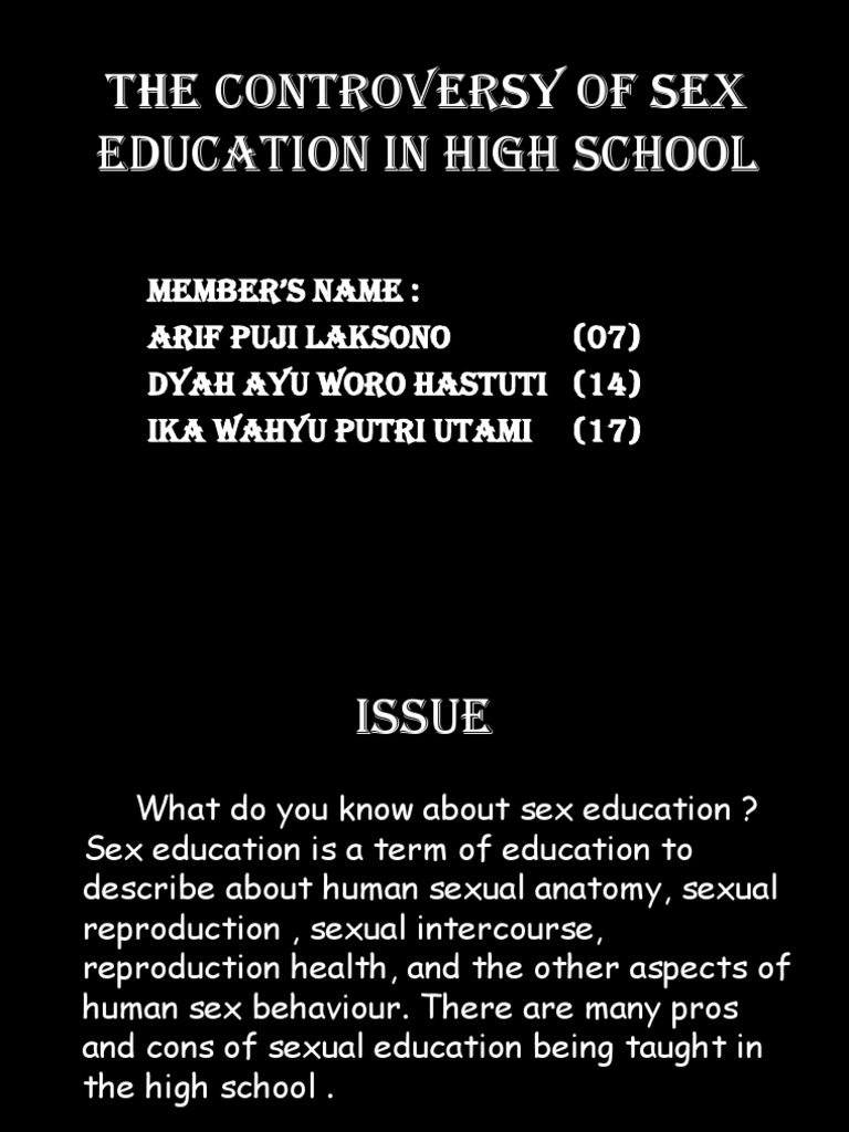 advantages of sex education in high school