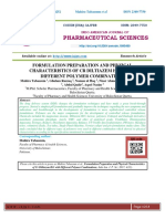 FORMULATION PREPARATION AND PHYSICAL CHARACTERISTICS OF CR DILTIAZEM HCL WITH DIFFERENT POLYMER COMBINATIONS