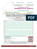 QUALITY CONTROL ANALYSIS AND ASSESSMENT OF DIFFERENT MARKET BRANDS OF CIPROFLOXACIN