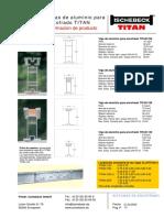 Datos Técnicos Vigas Aluminio Para Encofrado